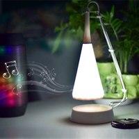 Black White Music Desk Lamp LED Touch Lights Bedside Sound Lamp Charging USB Bluetooth Speaker Lighting