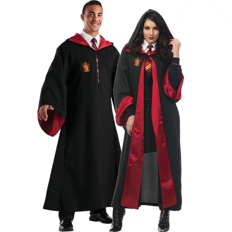 high quality Couple Harry's Cloak Magic cosplay clothes Gryffindor school uniform Halloween Harry Potter Magic Robe COS Clothing