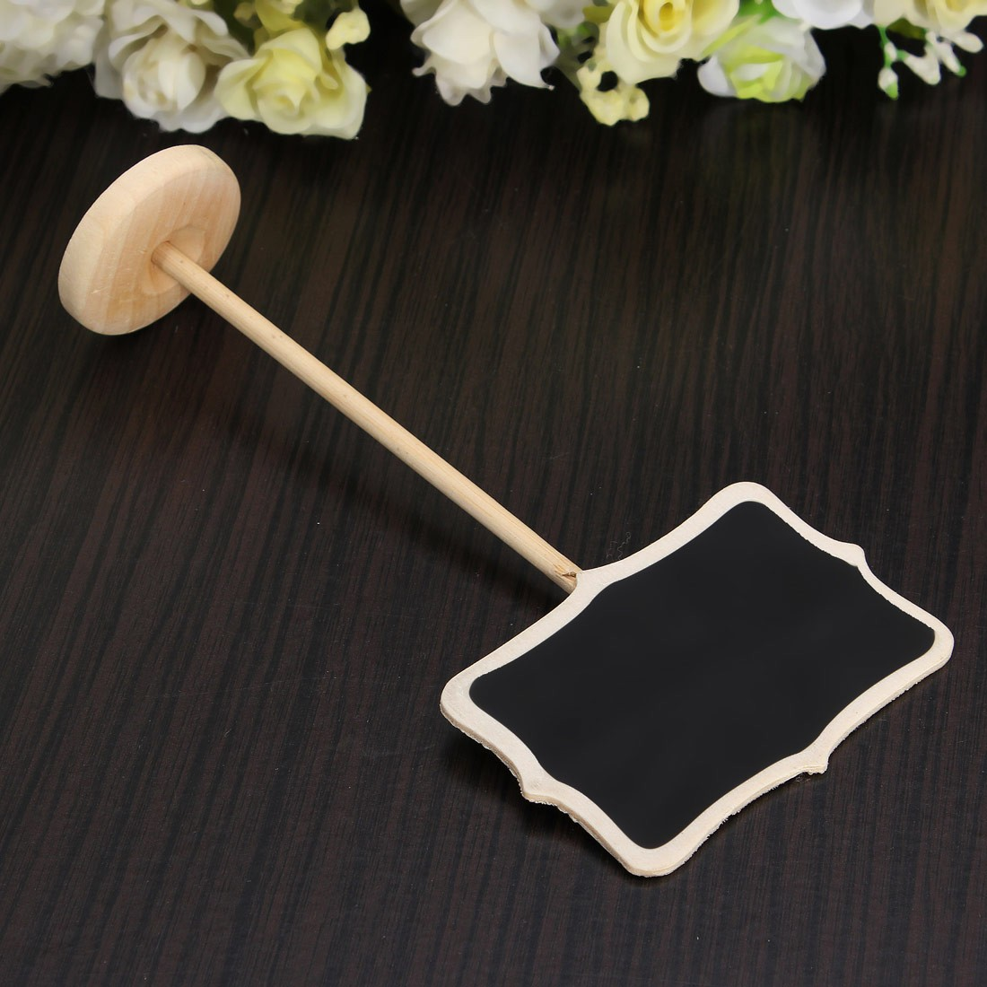Wedding Party Decoration Mini Chalkboard With Stand Seats Rectangle Love Style Seat Wooden Number Sign 8.8*5.5CM 18cm High