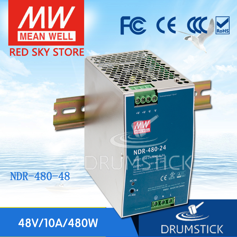цена на Genuine MEAN WELL NDR-480-48 48V 10A meanwell NDR-480 48V 480W Single Output Industrial DIN Rail Power Supply