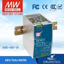 Горячая продажа означает хорошо NDR 480 48 48 В 10A meanwell NDR 480 48 в 480 Вт один выход промышленный din рейку блок питания