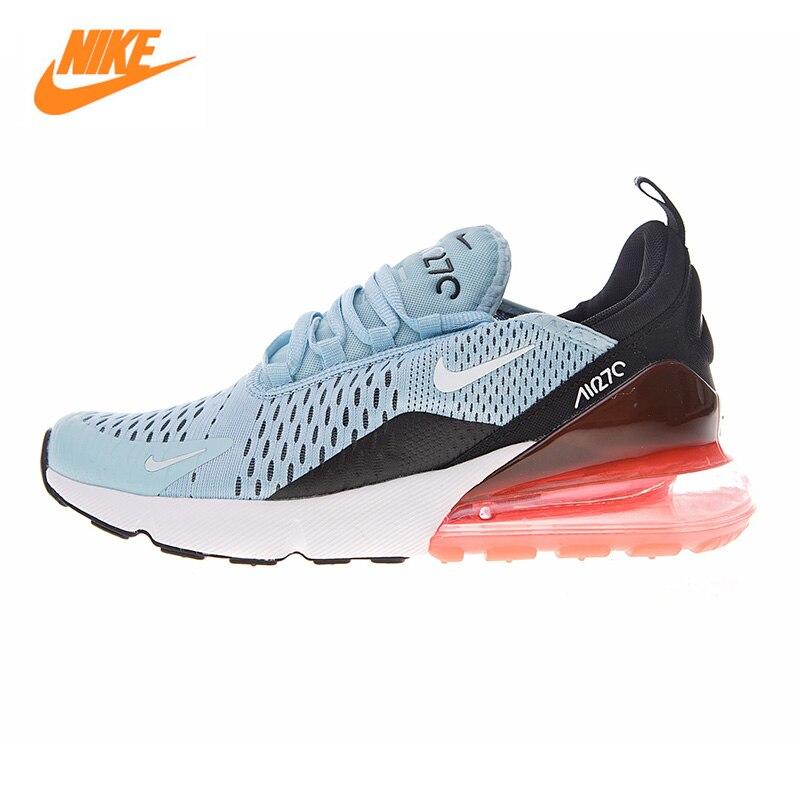 Nike Air Max 270 Chaussures de Course des Femmes, Bleu clair et Rouge, choc-Absorbant Respirant Léger Non-Slip AH6789 400