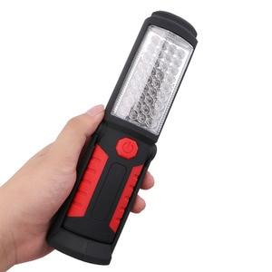 Image 5 - USB Rechargeable Lamp 36+ 5 LED Flashlight Outdoor Camping Lantern Work Lights Magnet HOOK Mobile Power For Phone Lanterna Lamp