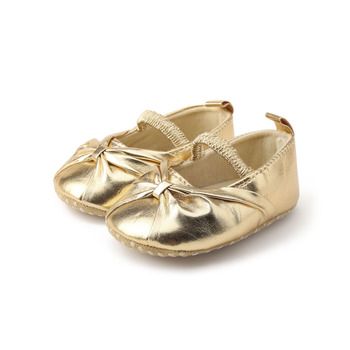 Delebao Pure Gold Newborn Baby Shoes New Hot Sale Elegant Fold The Princess First Walkers For Spring/Autumn Girl