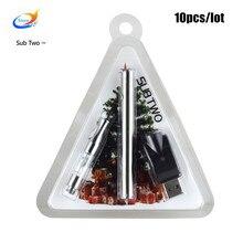 Electronic cigarette glows 380mah battery mini 0.5 ml atomizer ego u evod battery fit ce3 vape kits pen vaporizer Christmas