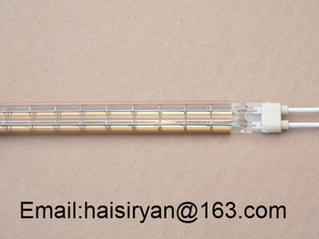 R7s customized 2000w 500mm far Single tube Electric halogen IR quartz glass heating emitter for oven manufacturer