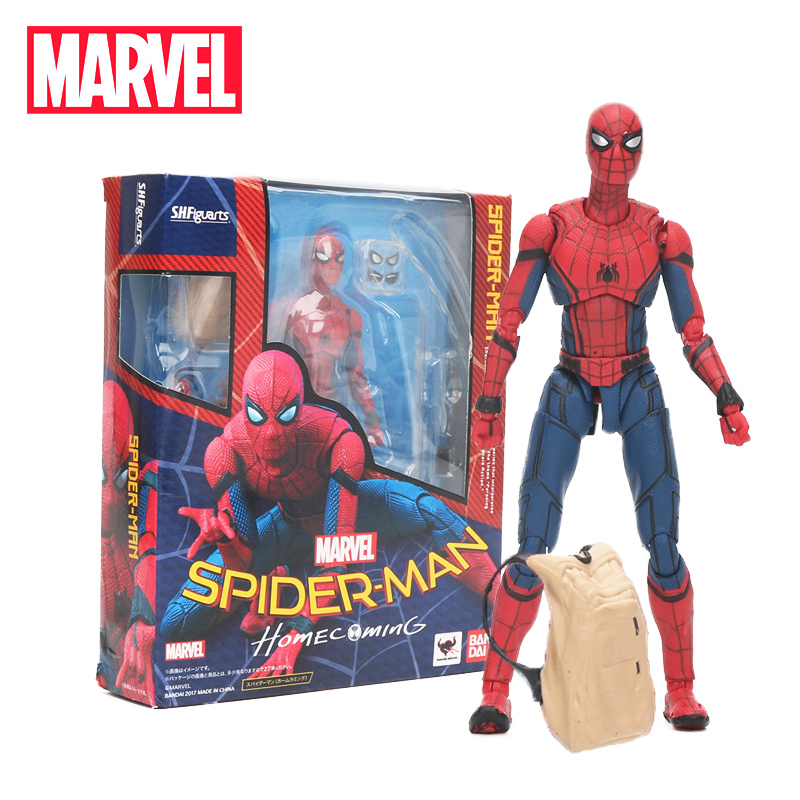 15cm Marvel Toys the Avengers 3 Infinity War SHF S.H.Figuarts Spiderman Homecoming PVC Action Figure Collectible Model Doll Toy ...