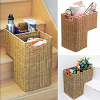 stair Storage Baskets Wicker laundry Basket Household Organization Baskets