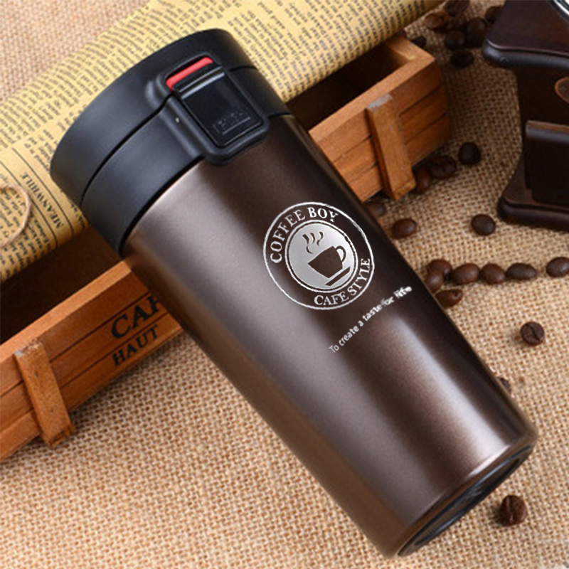 Café Thermos Tasse Isolation Bouteille Thermo Tasse En Acier Inoxydable Tumbler 380 ml Mini Vide Flacons Isothermes Femmes thermocup
