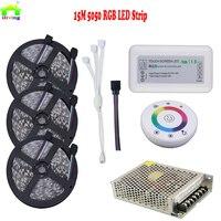 15M 5050 60LED 20M RGB Waterproof Christmas DC12V LED Strip Light Tape Kit RGB Dimmer RF Controller Wireless Remote Power Supply