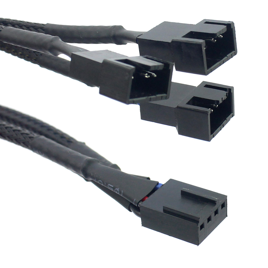 Cable Length: 30cm Connectors 4Pin PWM 1 to 3 Ways Cooling Fan Power Supply Extension Cable Y Splitter Cord Multiplier Computer PC Chassis Cooed 22AWG 30cm