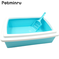 Petminru Cat Bedpans Plastic Toilet Cats Dogs Training Bedpan Box Little Pet Bedpan With Shovel Pet