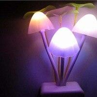 Creative LED wall lamp mushroom fungus light night light energy saving colorful color light baby for EU and US plug AC 110V 220V