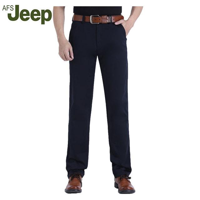 2016 AFS Jeep de La nueva marca de moda casual pantalones Delgados pantalones cómodos ocasionales de los nuevos hombres 3 colores tamaño 31-42 85