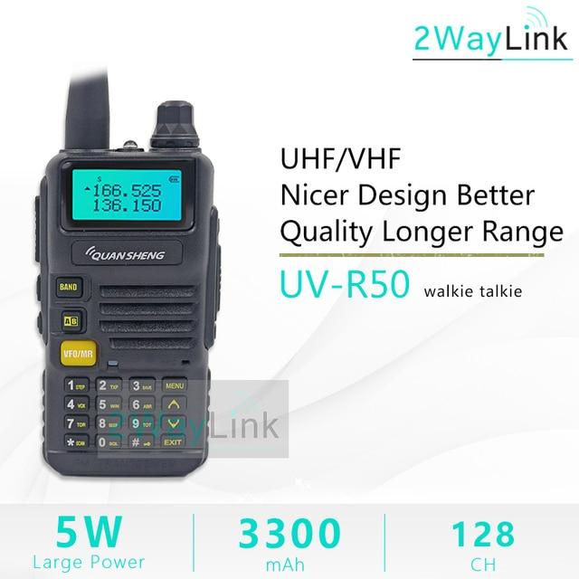 QuanSheng UV-R50 TG-UV2 Walkie Talkie UHF VHF 5W Two-way Radio 3300mAh Portable Quansheng UV-R50(-1) Ham Radio TG-UV50R