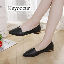 Brand Ksyoocur 2019 New Ladies Flat Shoes Casual Women Comfortable Pointed Toe Spring/autumn 18-024