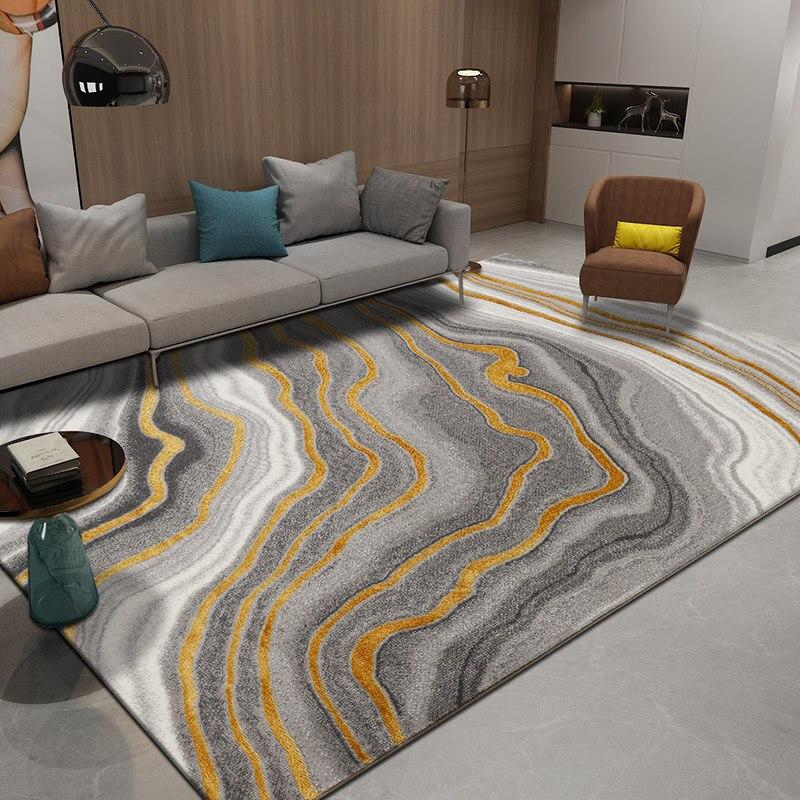 Nordic Carpets For Living Room Gold Line Bedroom Carpet Sofa Coffee Table Rug Home Decor Study Room Floor Mat Restaurant Rugs