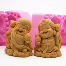 China Old Immortal 3D silicone mould Hand Making soap mold Craft Clay Making Molds цена и фото
