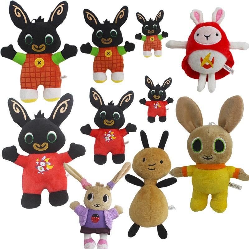 13 Styles Bing Bunny Plush Toys Doll Bing Sula Flop Elephant Hoppity Voosh Pando Plush Soft Stuffed Toys Gifts for Children Kids