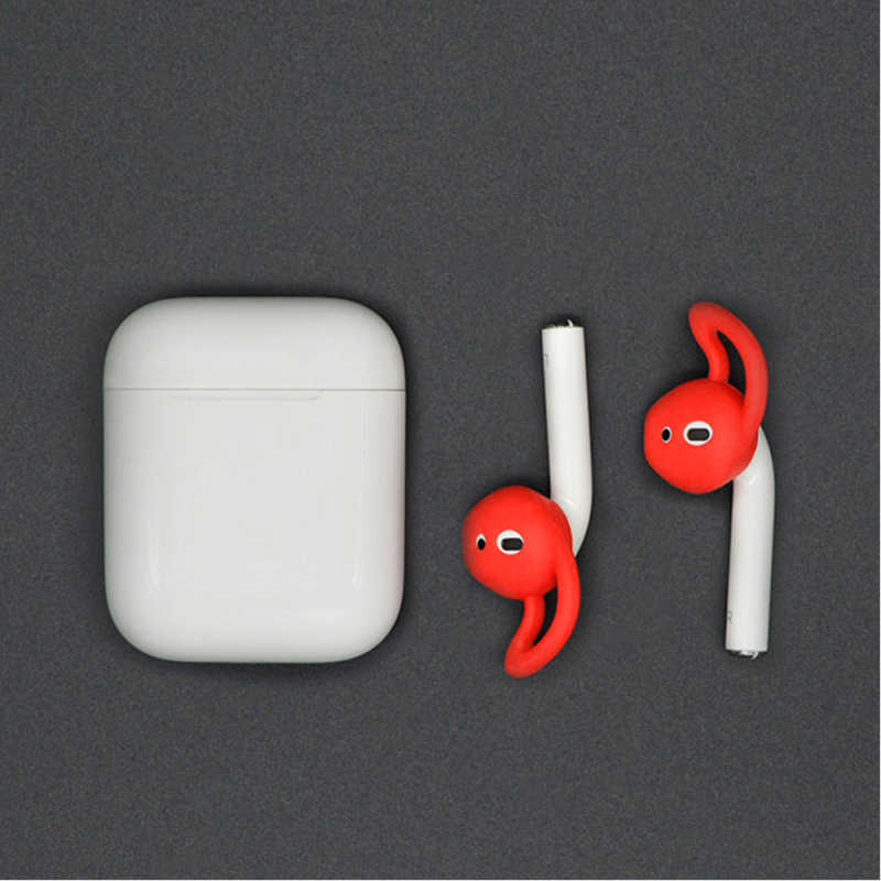 1pc Silicone Earphone Case for Wireless Bluetooth Headset for Airpods 2 Earplug Sleeve Protective Cover Earphone Accessory