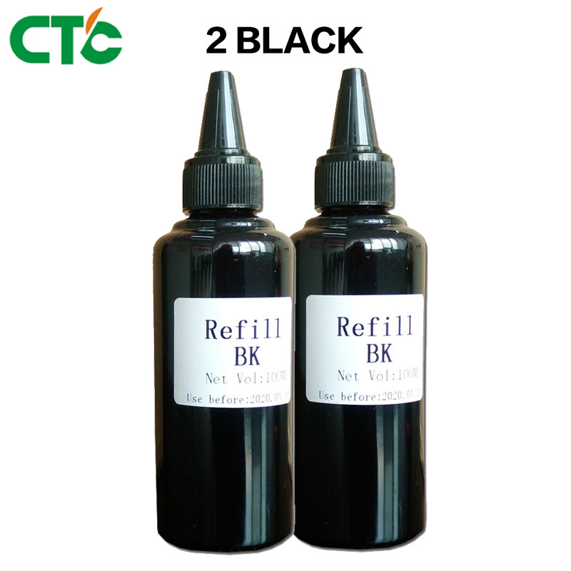 2 Black Printer ink Refill Ink kit for Inkjet Printers for printer for CISS system Refill 100ml Bulk ink 200ml bulk ciss for p600 use t7601 9 ink system for p600 printer ink system