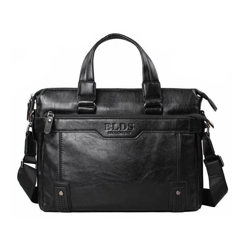 Men Bag 2016 BLDS BUSINESS Man Bag PU Leather Fashion Male Shoulder Casual Handbag Messenger Laptop