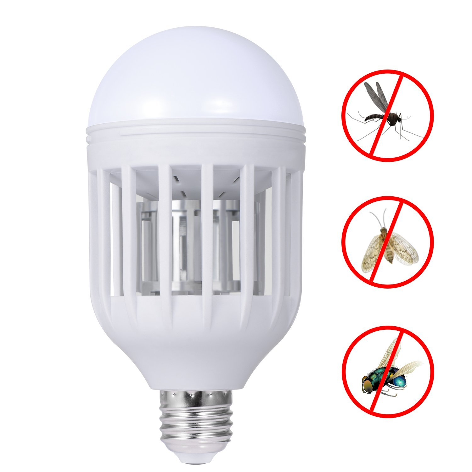 12W E27 led bulb fly mosquito killer built in insect trap light lamp socket use for indoor home garden backyard AC110V/220V socket electric mini mosquito lamp led insect mosquito repeller killing fly bug insect night housefly freeshipping