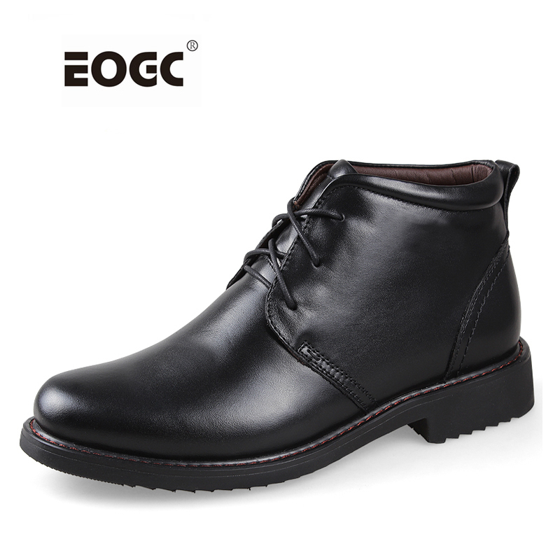 Plus Size men boots super warm genuine natural leather snow boots Handmade ankle boots for autumn and winter shoes Dropshipping
