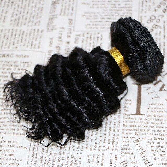 7A Brazilian Deep Wave Virgin Hair 100% Human Hair Weave Cheap Curly Hair Extension BY58