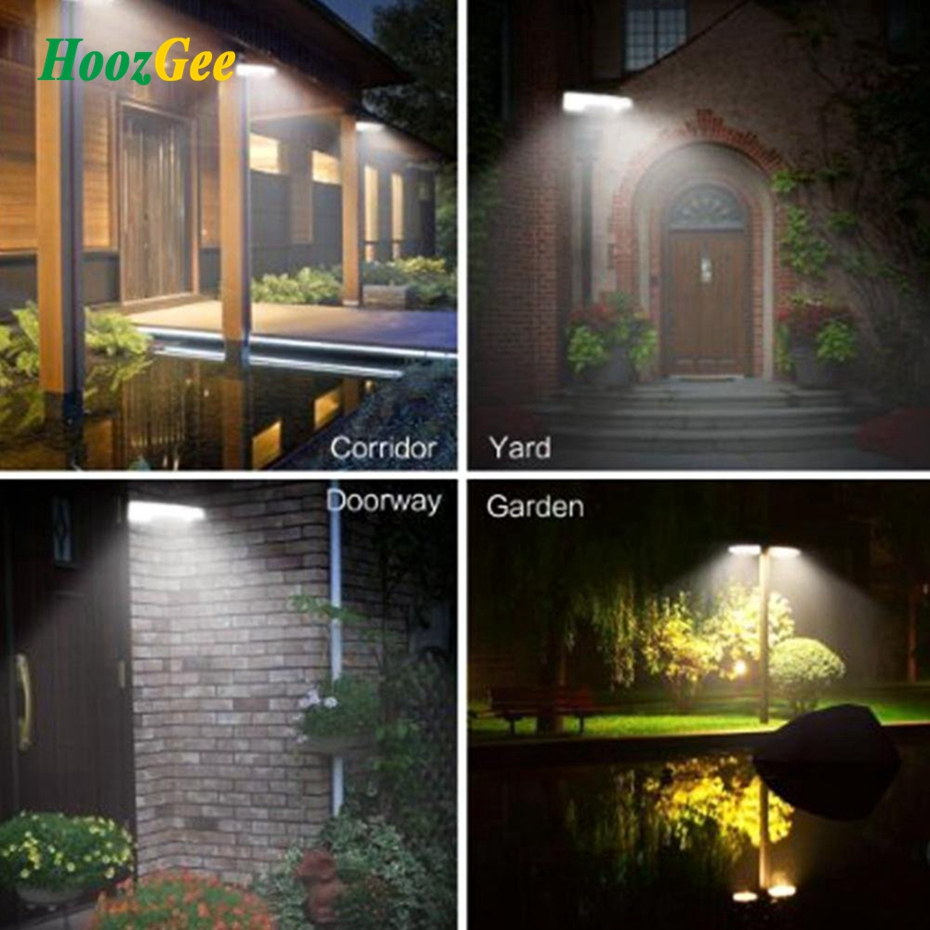 HoozGee 450LM 36 LED Solar Power Street Light PIR Motion Sensor Lamps  Garden Security Lamp Outdoor Waterproof Wall Lights In Outdoor Wall Lamps  From Lights ...