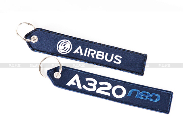 Airbus Logo A320 Neo Luggage Tag Travel Accessories Deep Blue Embroider Bag Gift For