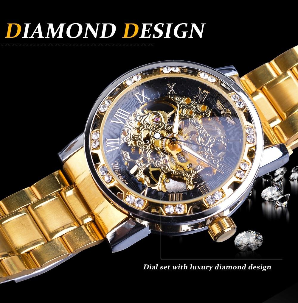 HTB1o95laBCw3KVjSZR0q6zcUpXaq Winner Golden Watches Classic Rhinestone Clock Roman Analog Male Skeleton Clocks Automatic Mechanical Stainless Steel Band Watch