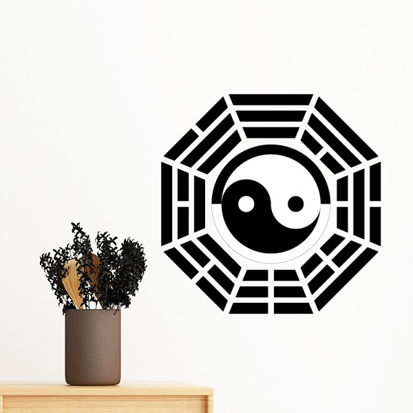 China Chinese Tai Chi Yin-Yang Fish Sign Loop Circle Flag Removable Wall Sticker Art Decals Mural DIY Wallpaper for Room