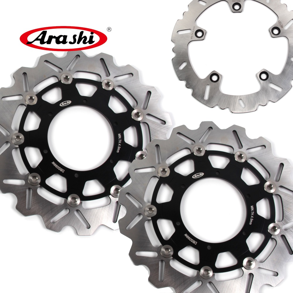 ARASHI F 800 GS CNC Front Rear Brake Rotors Disc FIT BMW F800GS 2015 2014 2013 2012 2011 2010 2009 F 800GS ADVENTURE 2013-2015 былины вч