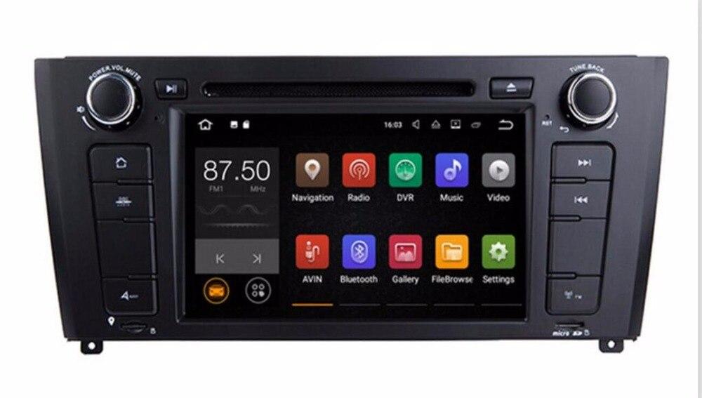 Lecteur DVD multimédia de Radio de voiture de deux din Android 8.0 pour BMW E81/E82/E88/1 série i18/i20 2din GPS stéréo WIFI CANBUS