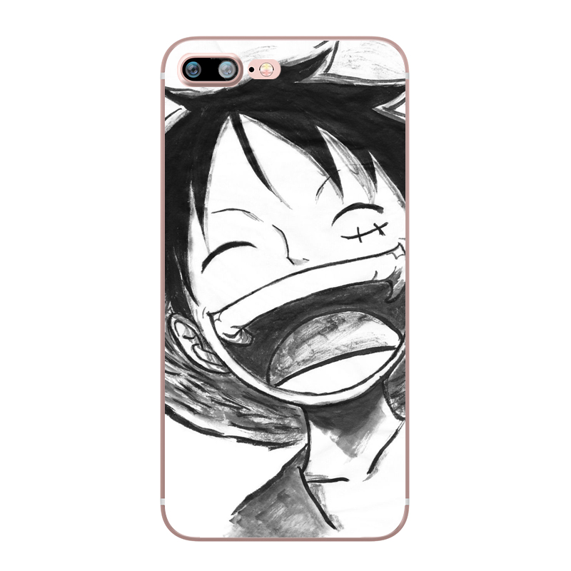 ONE PIECE Phone Case Japanese Anime Luffy Zoro Coque for Apple iphone 7 8 plus 6S X 5 6 5S SE 6PLUS Silicone Soft Clear TPU Capa (13)