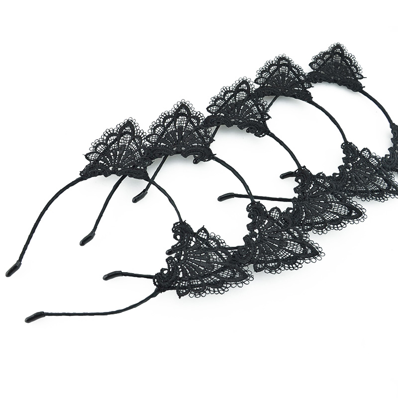 HTB1o97.PVXXXXXDaXXXq6xXFXXXW Handmade Sexy Black Lace Cat Ears Headband For Women