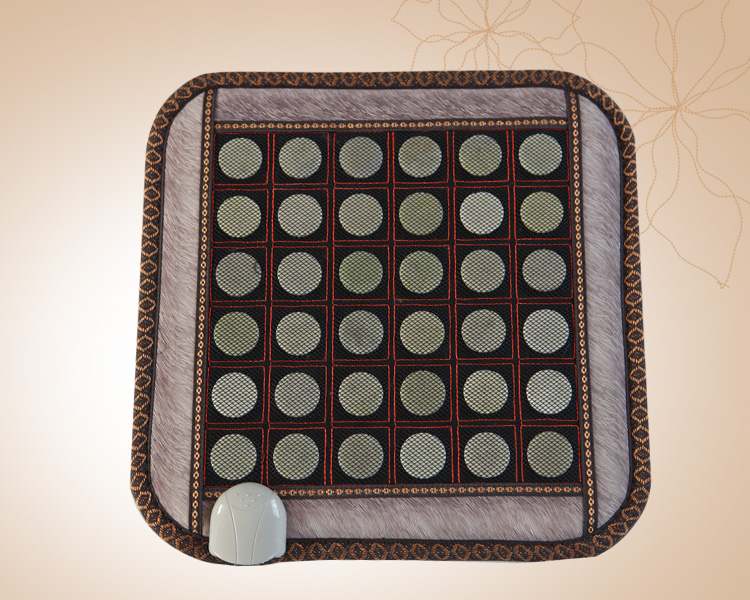 Jade blanket therapy electric massage cushion with infrared heat jade stone mattress cushion 45cmX45cm