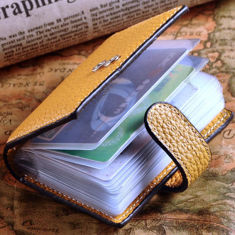 Teemzone Venta caliente moda laies viaje tarjetas de crédito Litchi textura  cuero cerrojo closture mujeres porte carte identificación J15 3537b8edfd06