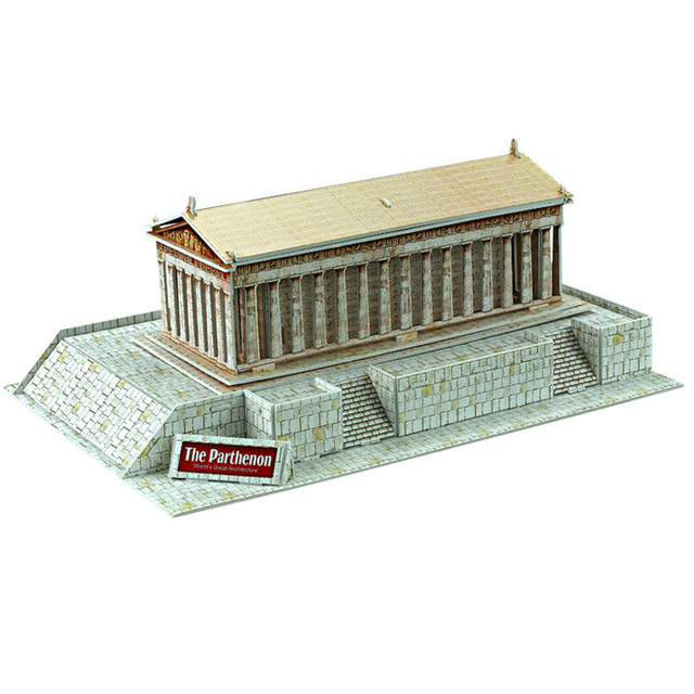 Educational toy Greece Parthenon stereoscopic 3d jigsaw puzzle assembly model paper building game creative children gift 1 pc