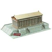 Giocattolo educativo grecia partenone stereoscopica 3d puzzle di modello di puzzle assemblaggio di carta gioco di costruzioni per bambini creativi del regalo 1 pz