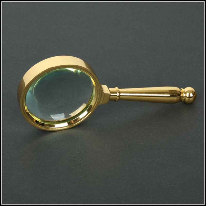 Reading Earrings: Portable 10X Magnifier Reading Handheld Bronze Metal
