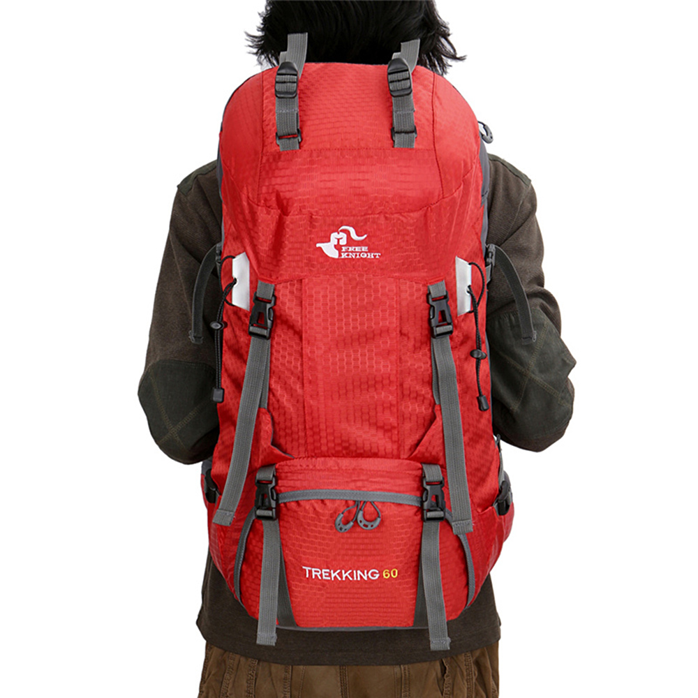 258c63abb Free Knight 60L Waterproof Climbing Hiking Backpack Rain Cover Bag 50L  Camping Mountaineering Backpack Sport Outdoor