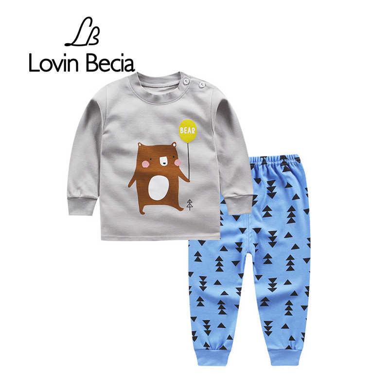 354483af509 LovinBecia спортивный костюм для мальчиков и девочек осень Детские  толстовки одежда спортивная одежда для малышей нижнее