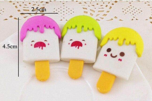 5 PCS Cartoon Ice Cream Eraser Kid Gift School Supply Stationery Material Escolar Escolares Papelaria