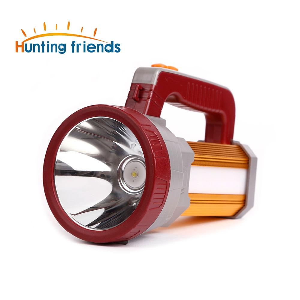 12pcs lot Super Bright Portable Spotlight USB Port Flashlight 3 Modes Seacrchlight Built in 3x18650 Rechargeable Batteies in LED Flashlights from Lights Lighting