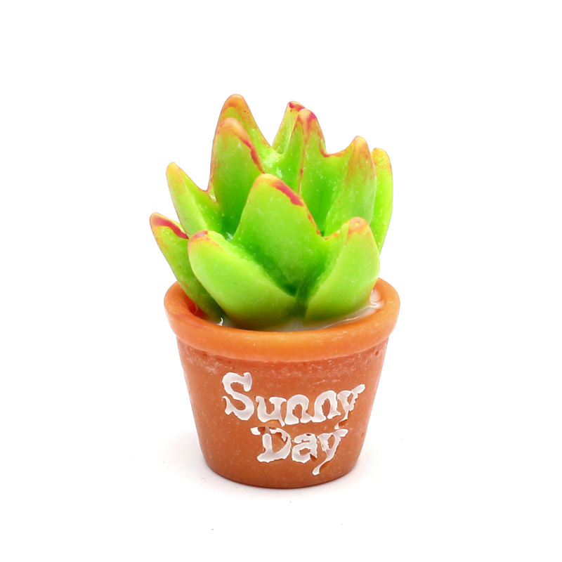 LF 10Pcs Mini Resin Succulents Decoration Crafts Flatback Cabochon Figurines Miniatures For Home Decoration Accessories Modern in Figurines Miniatures from Home Garden