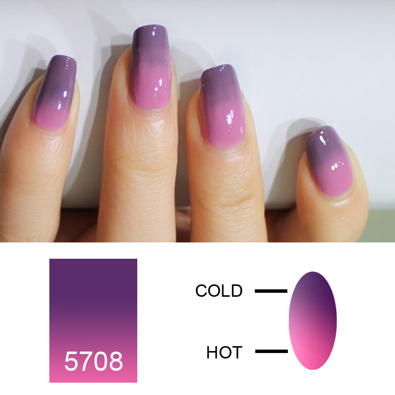 Saviland 1pcs Thermo Varnish Polish Temperature Changing Nail Gel 10ml Soak Off Uv Mood Change In From Beauty Health On