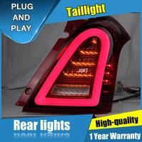 2PCS Car Styling for Suzuki Swift Taillights 2005 2014 for Swift LED Tail Lamp+Turn Signal+Brake+Reverse LED light