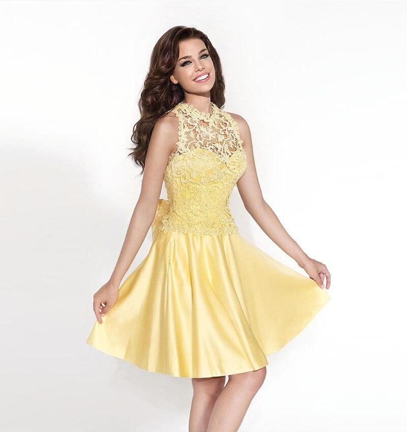 b332792b4fd7 Hot Sale descuento baratos Vestidos fiesta con la chaqueta de encaje  amarillo corto Mini Party vestido de fiesta para niña Vestidos de noche en  ...